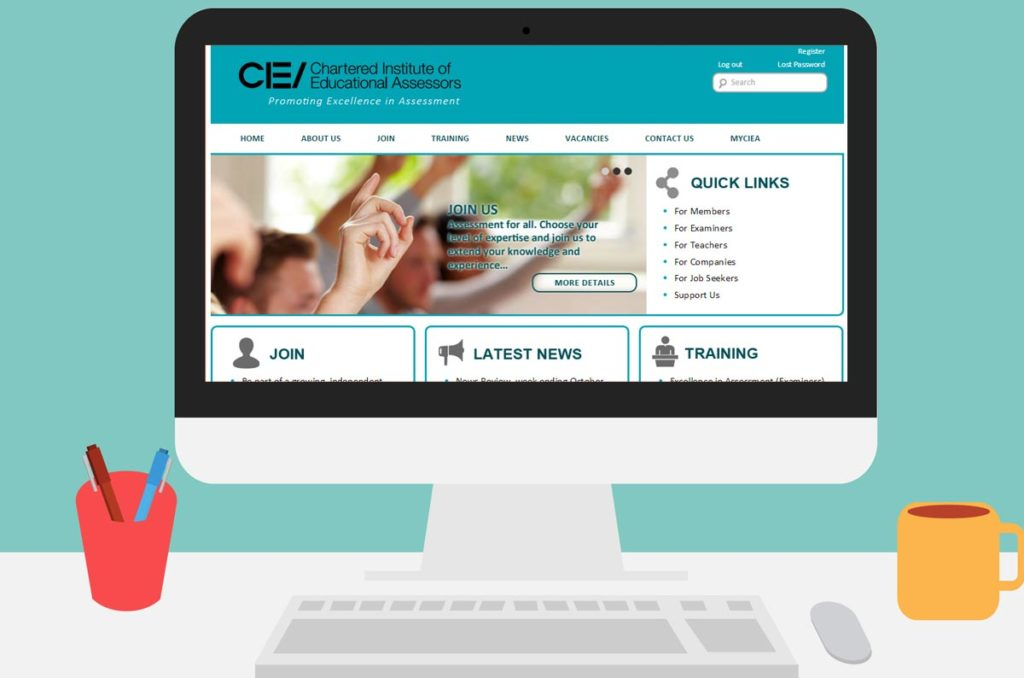 CIEA Home page Wordpress CMS Design