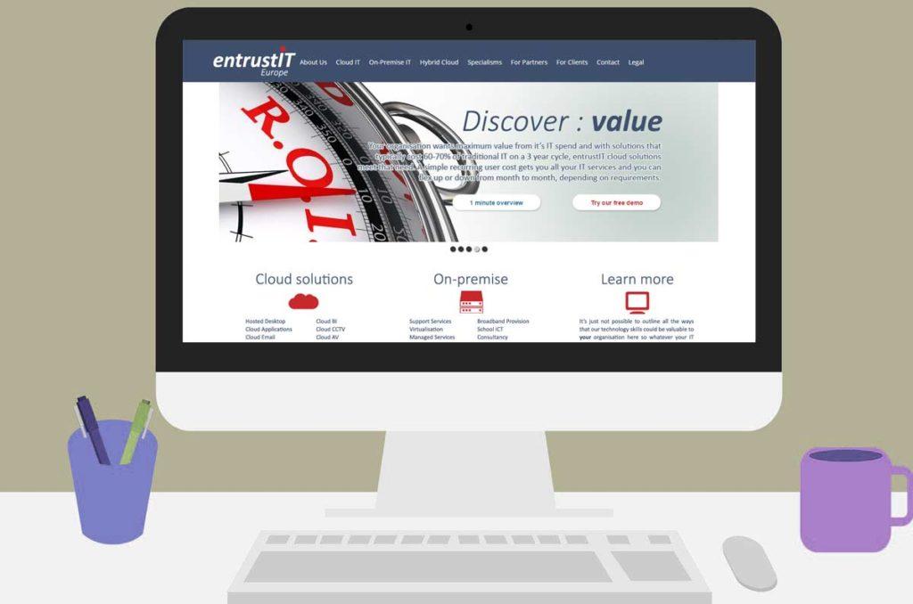 entrustIT home page scroller