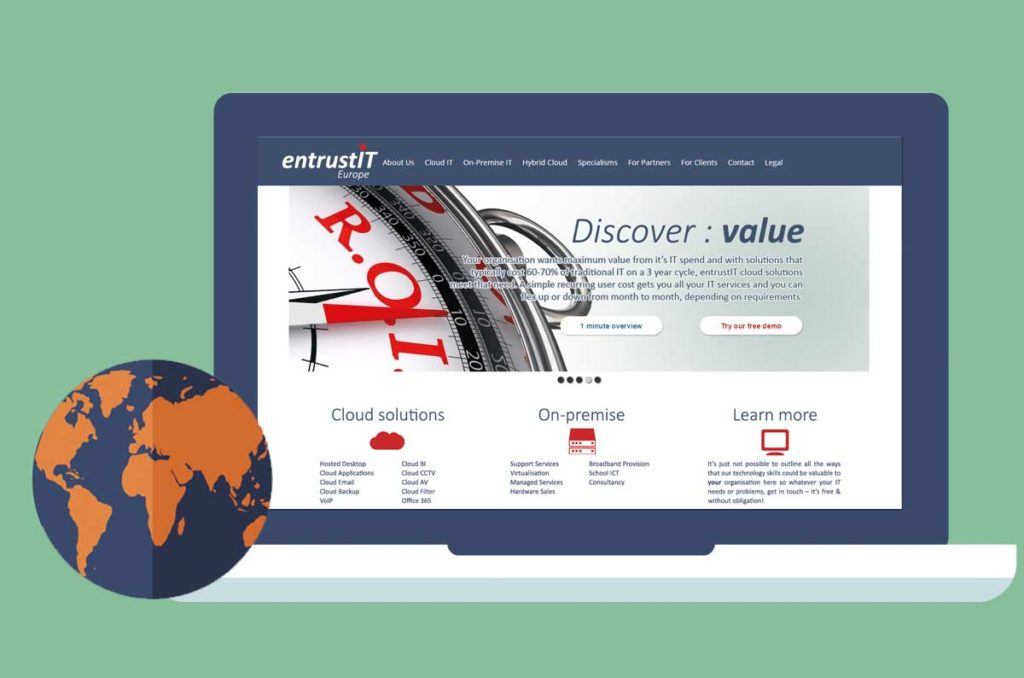 entrustIT web site design