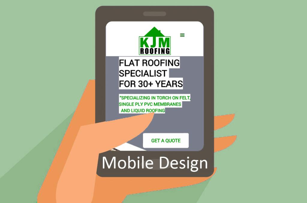 Mobile design for KJM Roofing