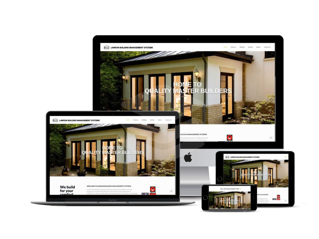 Lawson building service website great on all web devices