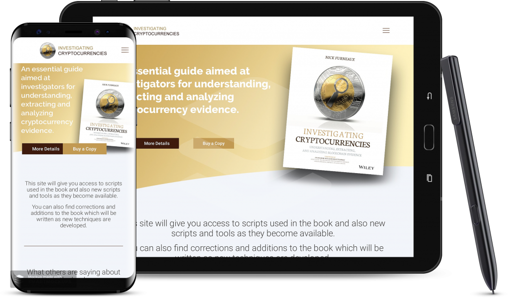 Investigating Crypto Currency website for laptops and mobiles