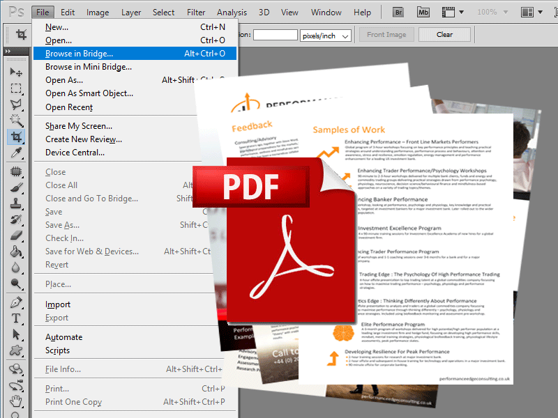 Photoshop to multipage pdf
