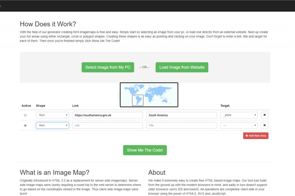 image map generator layout