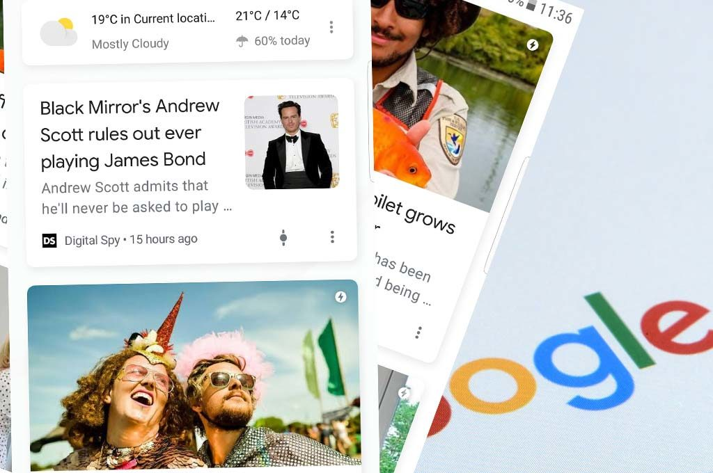Snippets of news in Google Discover Content