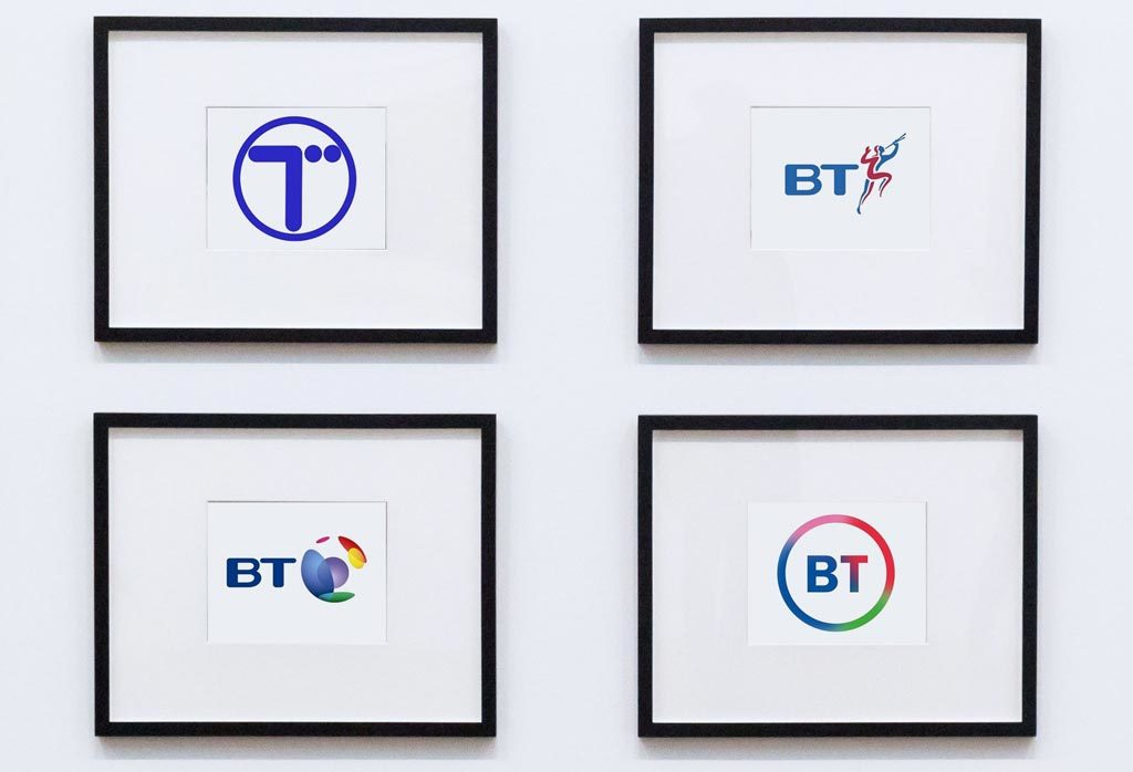 BT logo range of designs