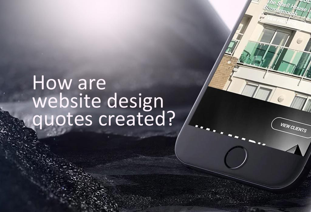Website design quotes are created from services, products & mainly time