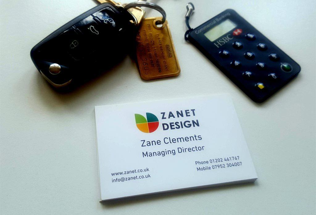 Zanet Design Business Card