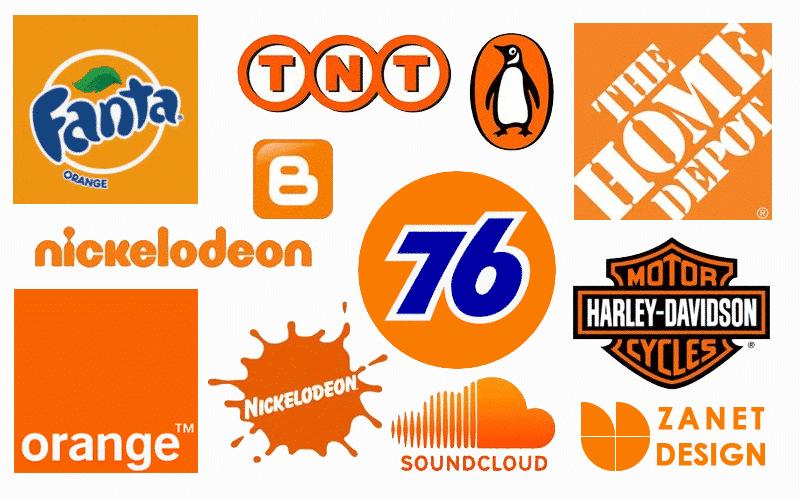 Orange color psychology branding