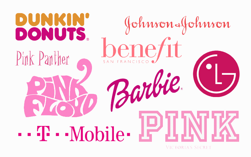 The Meaning Of Color Pink in Logo Design