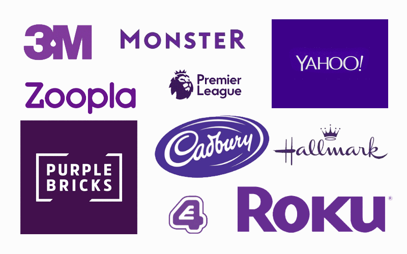 The Meaning Of Color Purple in Logo Design