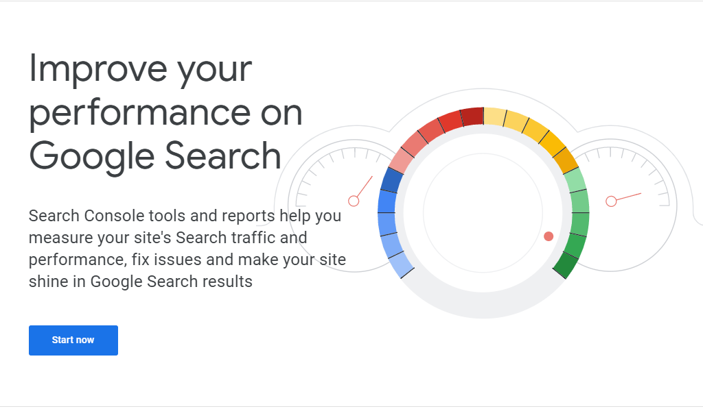 Website re-design plan includes Search console