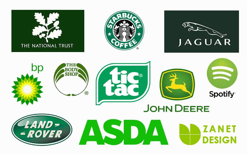 Green color psychology branding