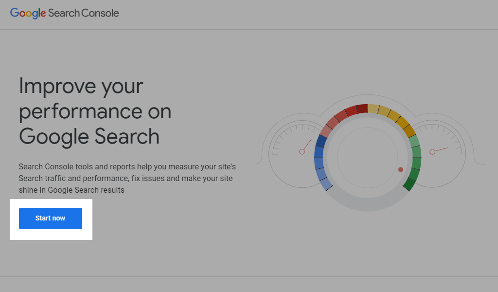 Google search console login link