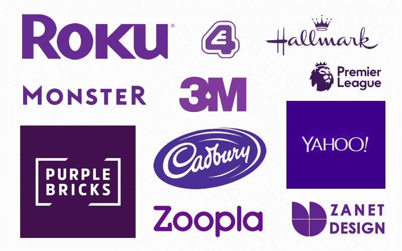 Purple color psychology branding