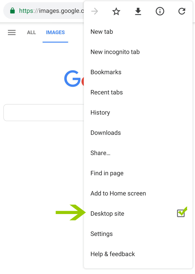 Reverse image search on an Android mobile