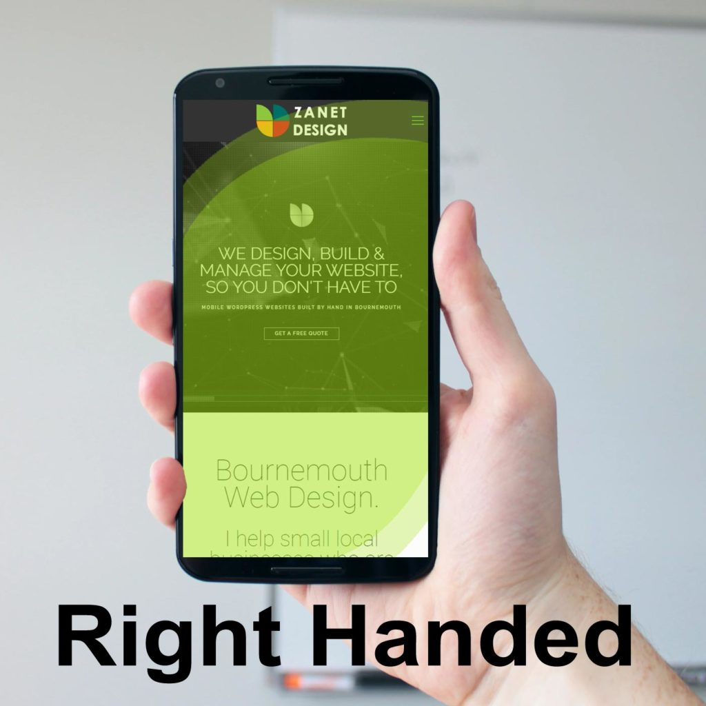 Branding in 2020 with Thumb-friendly navigation
