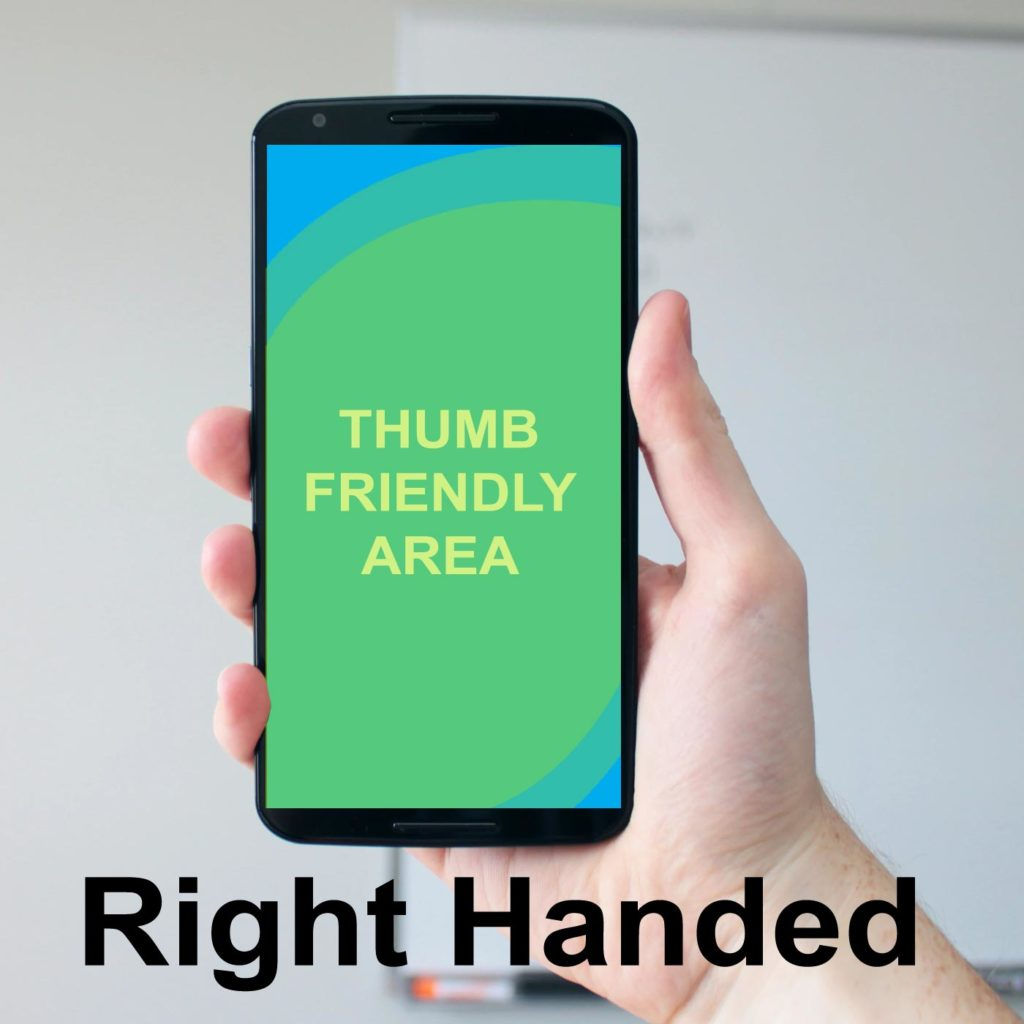 Right Thumb friendly navigation in 2020