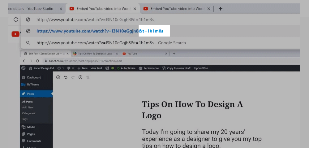 Use the Browser URL to add a timestamp