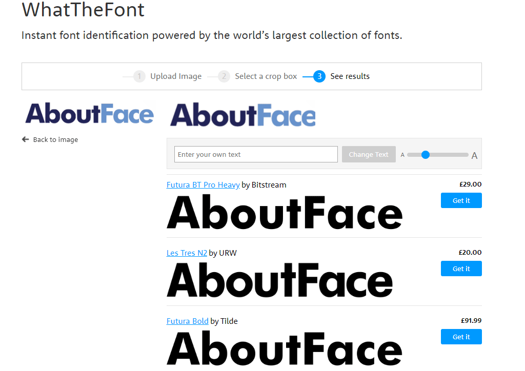 Identify the font for free online