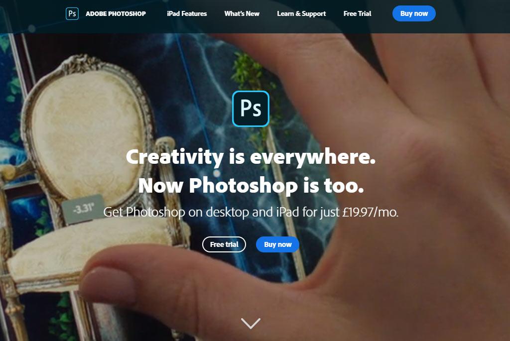 Adobe photoshop image tool