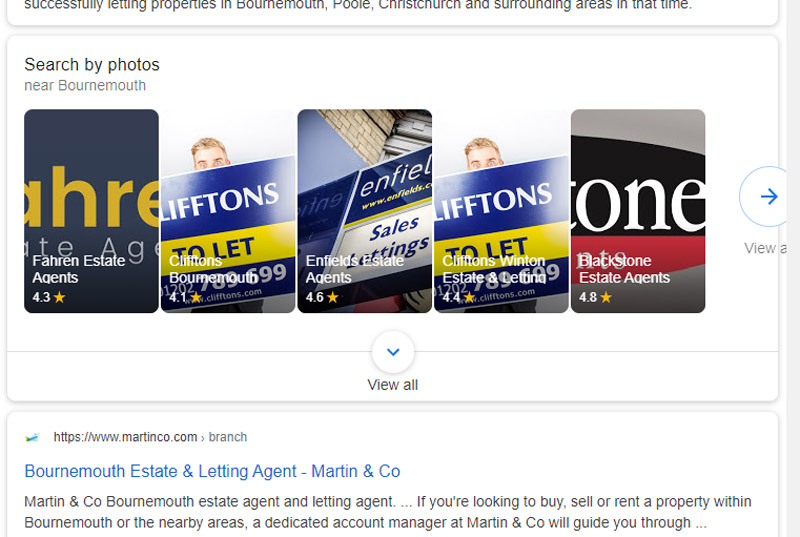Google My Business images for estate agents.