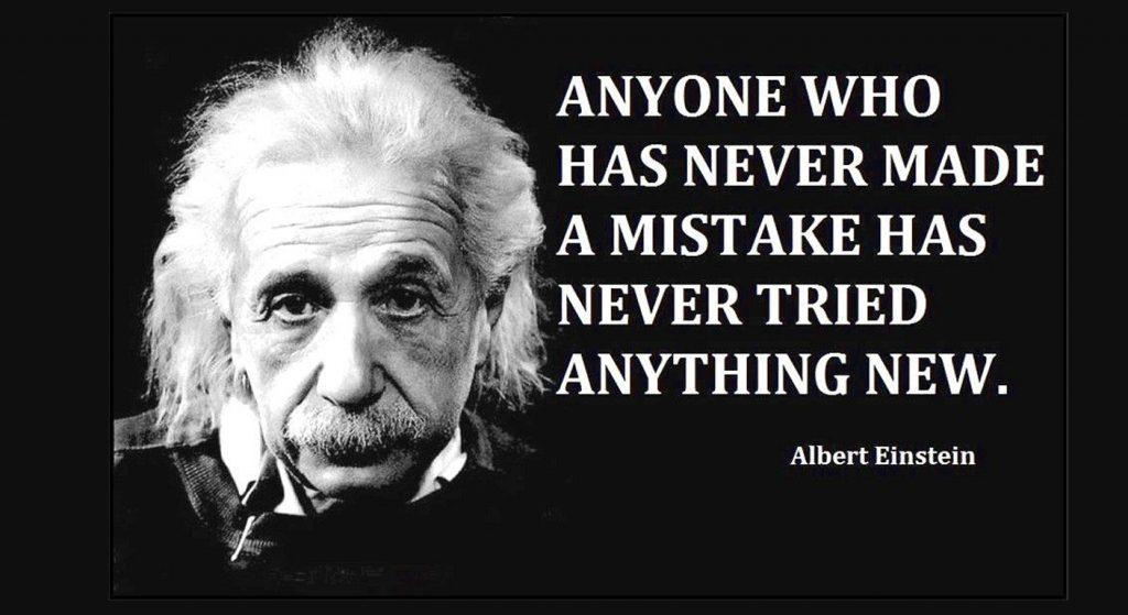 Albert Einstein made errors too