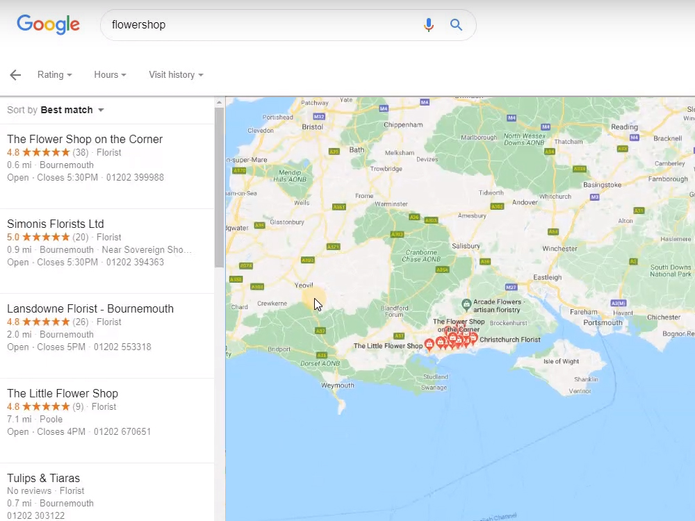 Where your Google My Business map is found