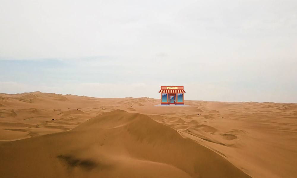 small business in a desert