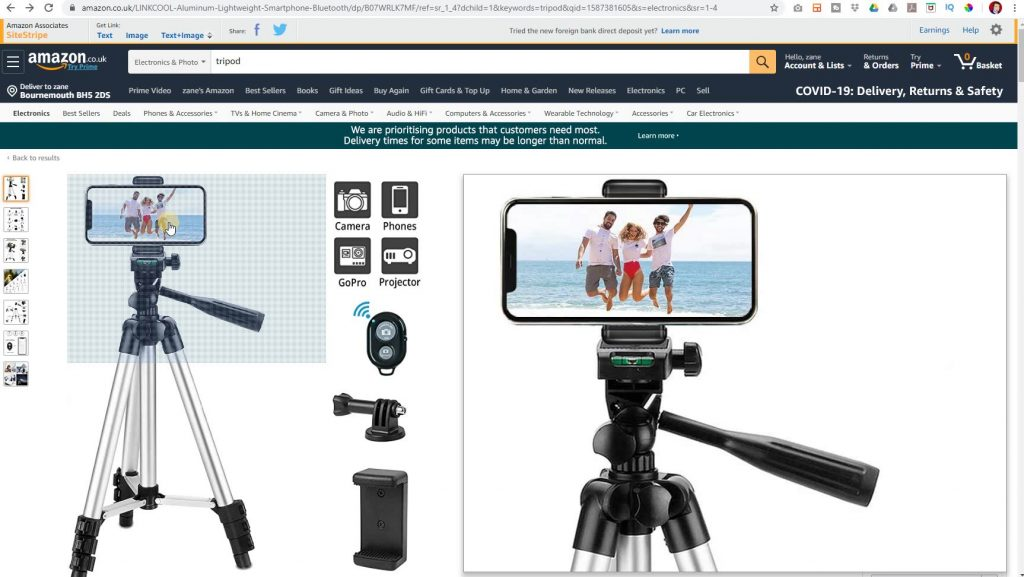 The camera and tripod I use in my videos