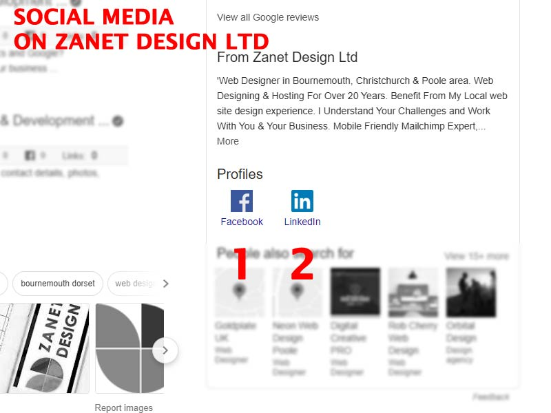 Adding Social Media to Zanet Design Ltd