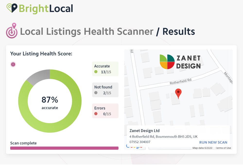 scan here for your listing results