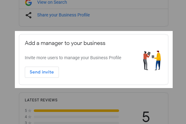 Add a manager to your business