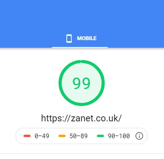 Incredible Increase in Google Page Speed