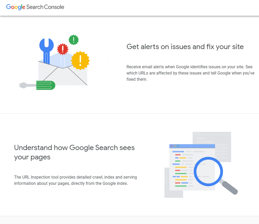 Google Search Console for simple analytics