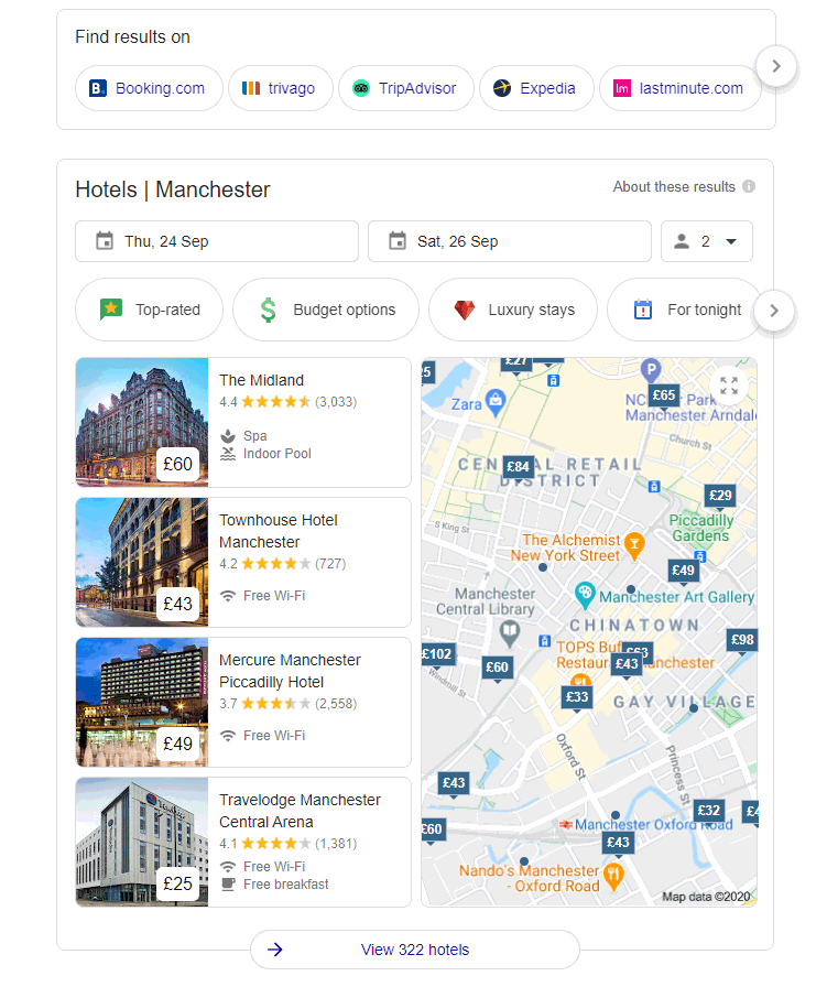 Hotel Citations help Google results