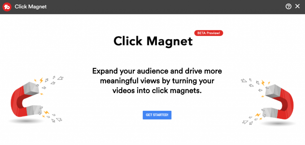 click magnet from Tubebuddy