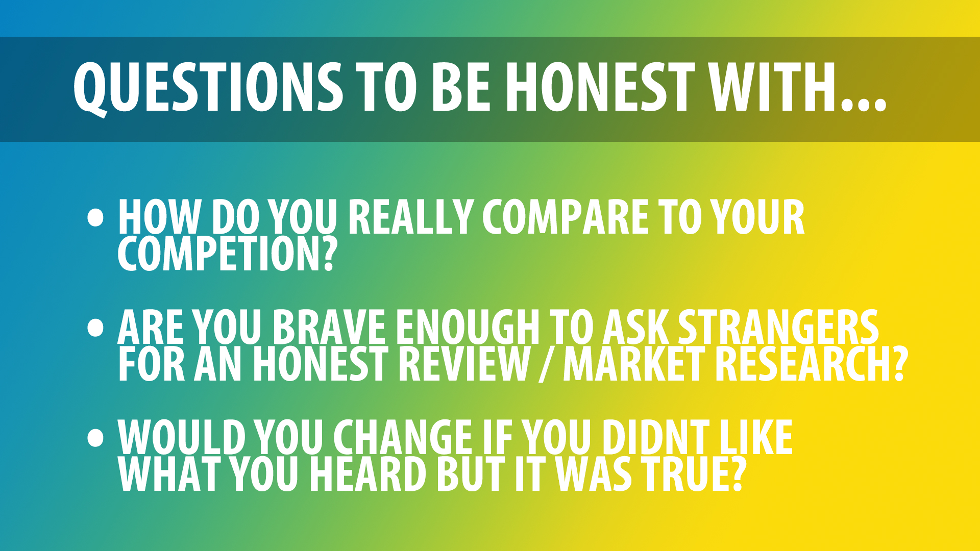 questions for your business