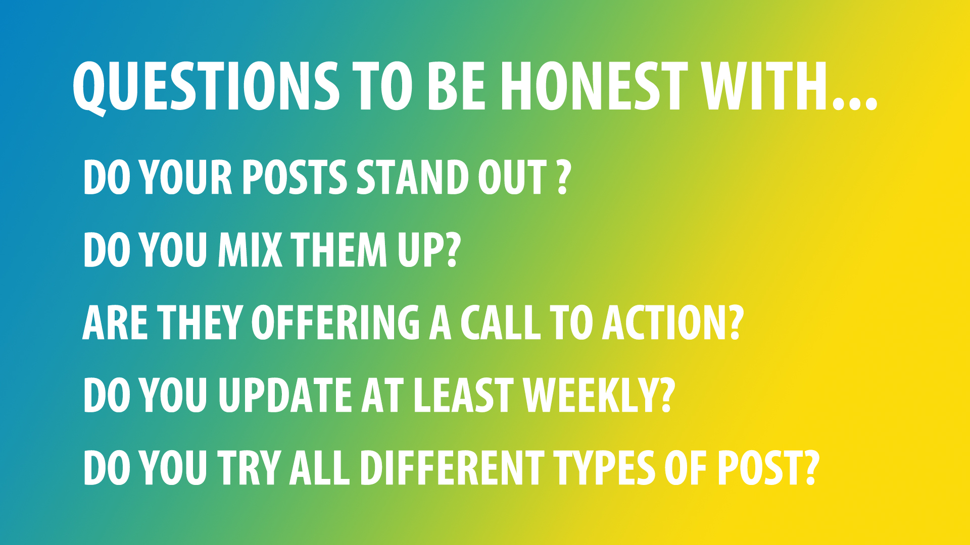 questions for your GMB posts
