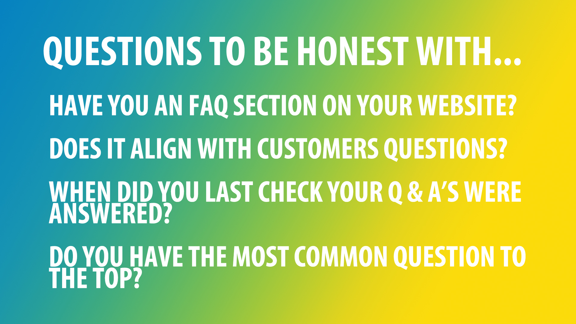 questions on FAQs