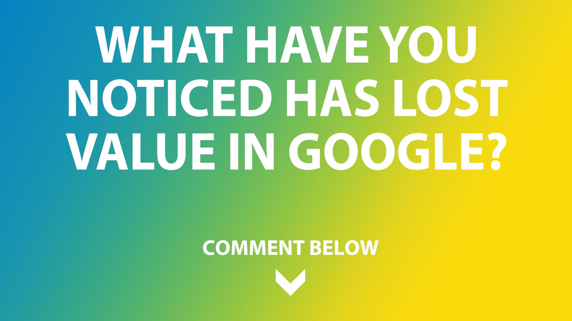 Google's values in SEO