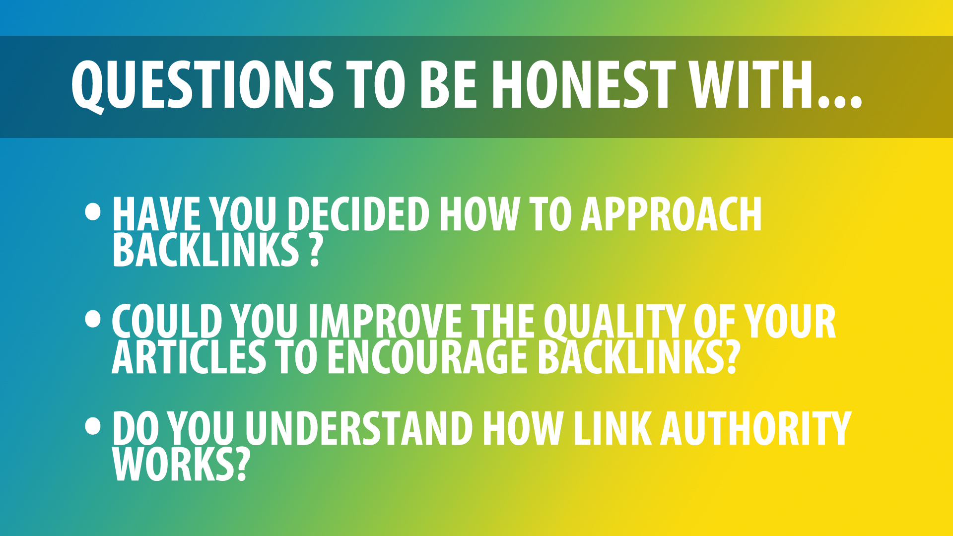 questions on Google backlinks